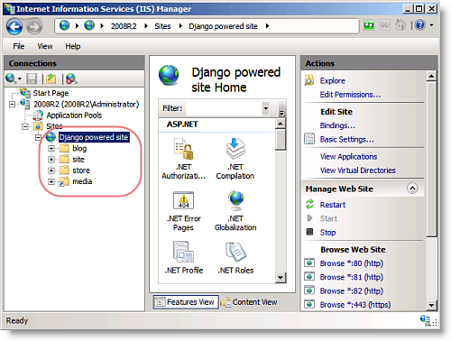 Running Django, Rails and Mojolicious on Windows Server 2008 with