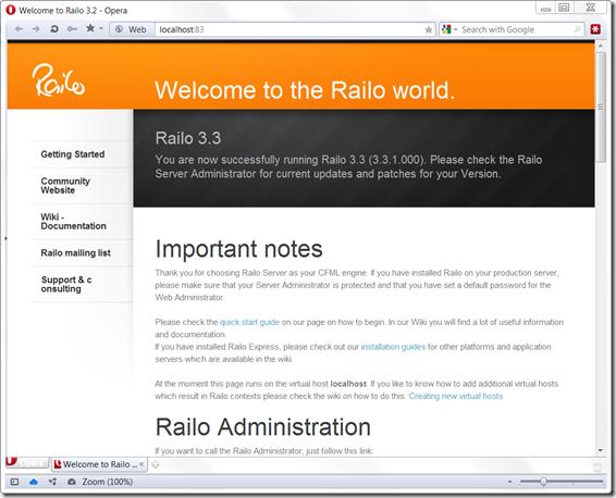 railo-start-page